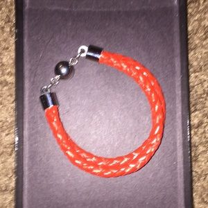 💲Lowest Price💲Red Leather Braided Cord Bracelet